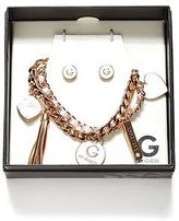 G by Guess GByGUESS Women's Charm Bracelet and Earrings Box Set