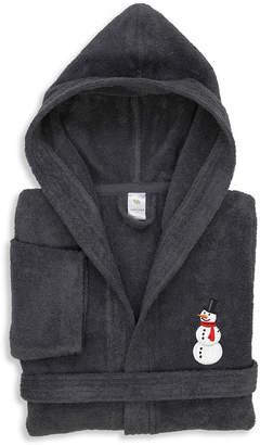 Asstd National Brand Linum Kids 100% Turkish Cotton Hooded Unisex Terry Bathrobe - Snowman