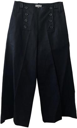Margaret Howell Black Cotton Trousers