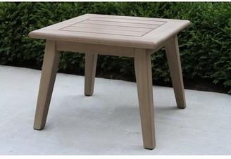 Outdoor Interiors Amarella Antique Stain Eucalyptus Accent Table