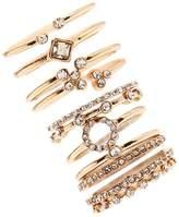 Forever 21 Rhinestone Ring Set