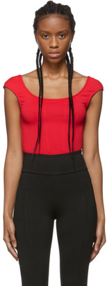 Ernest Leoty Red Agathe Bodysuit