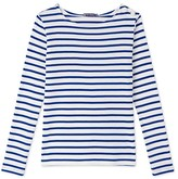Petit Bateau Womens long-sleeved nautical striped tee