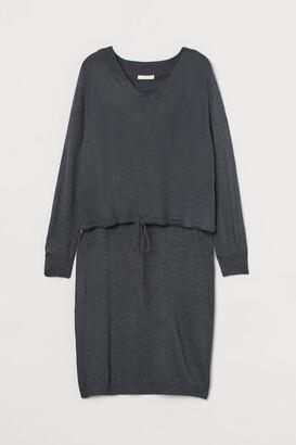H&M MAMA Wool-blend dress - Gray