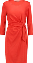 Diane von Furstenberg Gathered crepe de chine mini dress