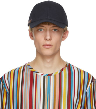 Paul Smith Navy Signature Stripe Baseball Cap