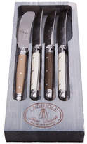 Jean Dubost Le Thiers 4 Spreaders w/ Linen-Colored Handles in Grey Box