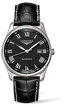 Longines Men's Master Collection Stainless Steel & Alligator Leather Strap Watch