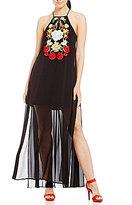Gianni Bini Shane Embroidered Maxi Dress