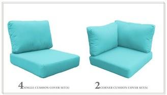 tk.TAKEO KIKUCHI Classics Capecod 14 Piece Outdoor Cushion Set Classics Fabric: Aruba