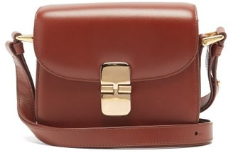 A.P.C. Grace Mini Leather Cross-body Bag - Tan