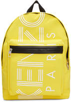 Kenzo Yellow Logo Backpack