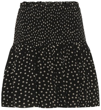 Ganni Polka-dot georgette skirt