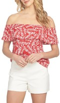 1 STATE Women's 1.state Ruffle Off The Shoulder Blouse