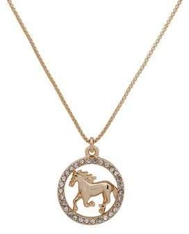 Lauren Ralph Lauren Goldtone & Crystal Horse Pendant Necklace