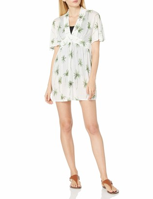 Milly Women's Palm Print Bari Dress Cover Up