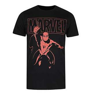 Marvel Men's Spiderman Logo Swing T-Shirt,Small (Size:Small)