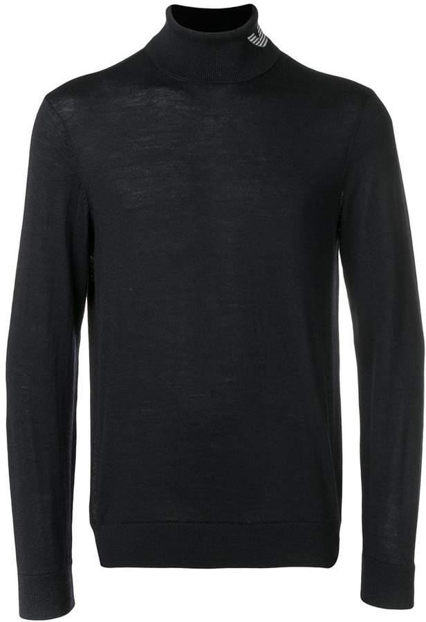Emporio Armani turtle-neck fitted sweater