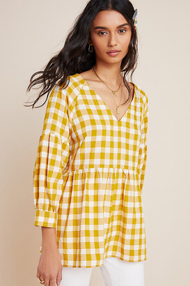 Maeve April Babydoll Blouse By in Yellow Size S