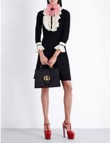 Gucci Ruffled wool-blend dress