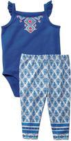 Carter's Girls' Bodysuit Pant Set - Indigo Print