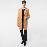Paul Smith Men's Tan Wool And Cashmere-Blend Peak-Lapel Epsom Coat