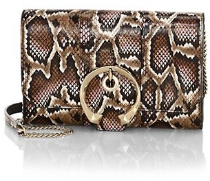 Jimmy Choo Mini Madeline Snakeskin Wallet-On-Chain
