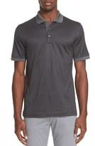 Canali Men's Check Jacquard Cotton & Silk Polo