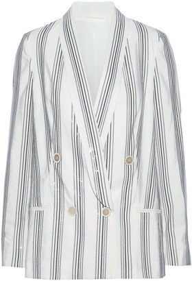 Brunello Cucinelli Sequin-embellished Silk-blend Blazer