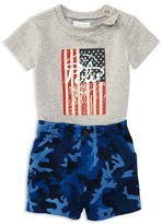 Ralph Lauren Infant Boys' Flag Tee & Terry Camo Shorts Set - Sizes 3-24 Months
