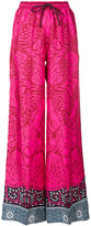 Mary Katrantzou tiger pattern palazzo trousers