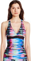 Next Women's Turn Up The Tempo Superwoman Racer Back Tankini with UPF 50