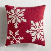 Pier 1 Imports Red Chain Stitch Snowflake Pillow