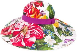 Dolce & Gabbana Floral Wide-Brim Hat