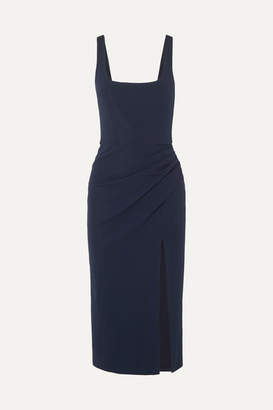 Cushnie Draped Stretch-cady Dress - Navy