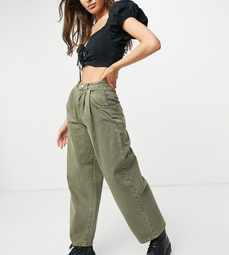 Reclaimed Vintage inspired the '97 wide mom jean in washed green