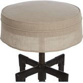 Crate & Barrel Turner Stool Linen Cushion with Skirt