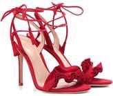 Gianvito Rossi Flora suede sandals