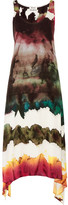 Acne Studios Saleh Asymmetric Printed Crepe Midi Dress - Purple