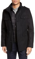 Black Rivet Men's Long Button Front Coat