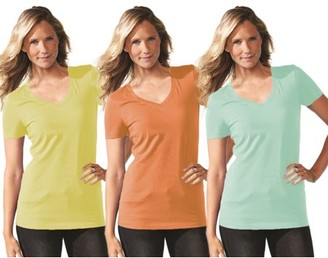 Clementine Apparel Women's Clementine Ideal V Neck T-Shirt (Pack of 3)