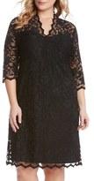 Karen Kane Plus Size Women's Scalloped Stretch Lace Dress
