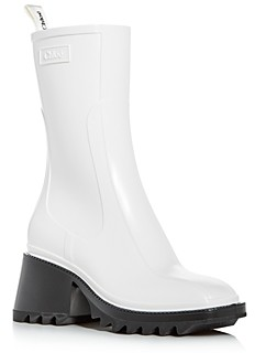 Chloé Women's Betty Block-Heel Platform Rain Boots