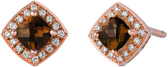 LeVian Le Vian 14K Rose Gold 0.50 Ct. Tw. Diamond & Smoky Quartz Earrings