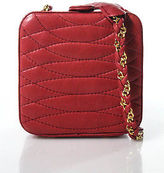Giorgio Beverly Hills Red Quilted Leather Small Square Chain Strap Handbag