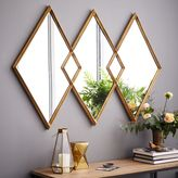 west elm Overlapping Diamonds Mirror