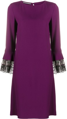 Alberta Ferretti Long-Sleeve Shift Dress