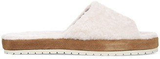 Vince Kalina Shearling-Lined Suede Slippers