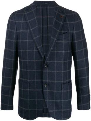 Lardini Pin-Detail Check Suit