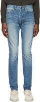Saint Laurent Blue Low-Waisted Skinny Jeans